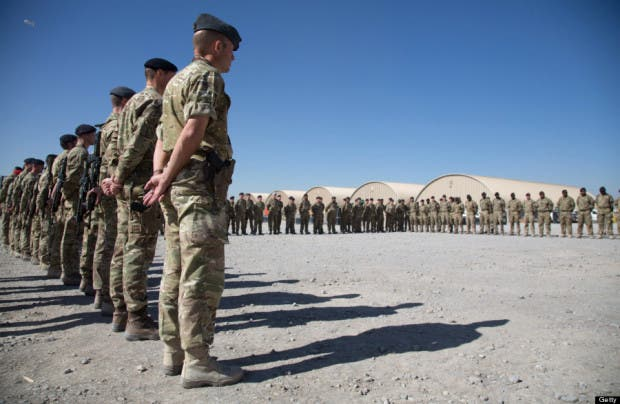 Armistice Day Marked By British Troops In Kandahar
