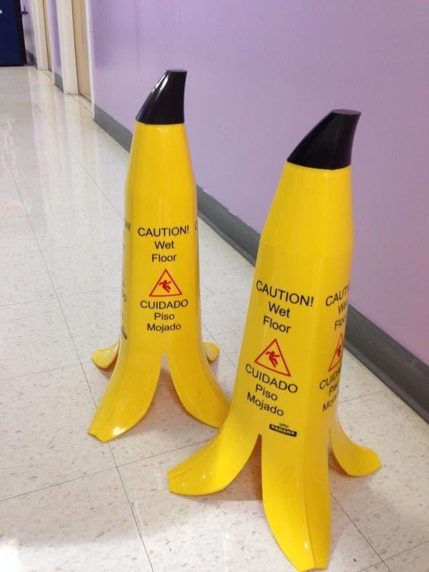 Banana-peel-wet-floor-signs