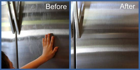 Cleaning-Stainless-With-Vinegar-Before-and-After