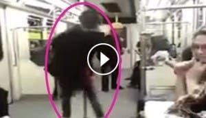 mujer iraní baila en el metro