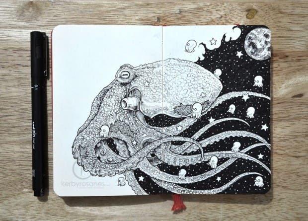 dibujos tinta kerby rosanes (4)