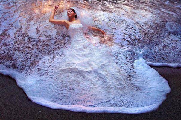 vestido novia agua