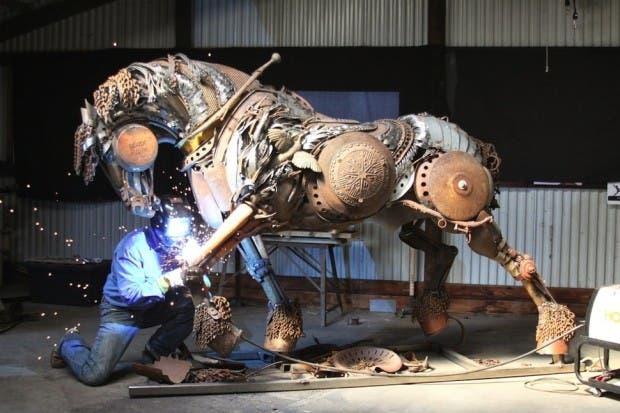 Esculturas de metal herrero