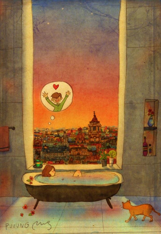amor-detalles-Puuung-ilustraciones-bañera
