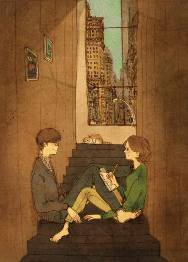 amor-detalles-Puuung-ilustraciones-escaleras-angostas