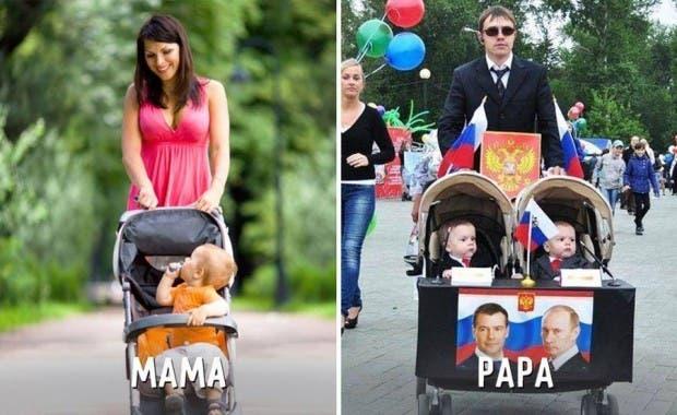 mama-papa-diferencias-divertidas-carriola