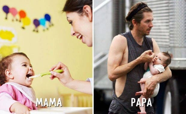 mama-papa-diferencias-divertidas-comida