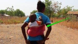 cargar a tu bebé en la espalda