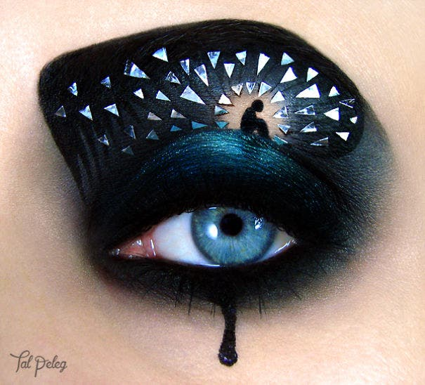 Esta artista usa los ojos como lienzo