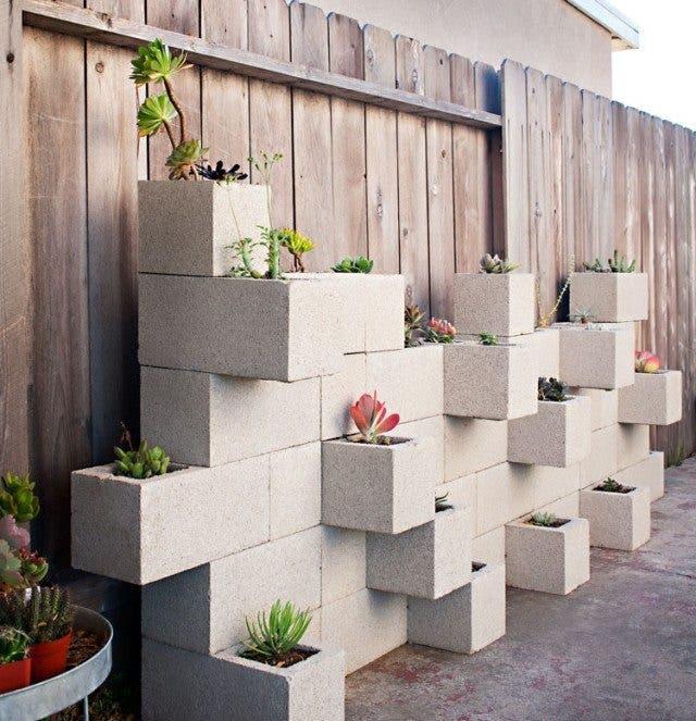 No te deshagas de esos bloques de cemento! mejor úsalos para ...