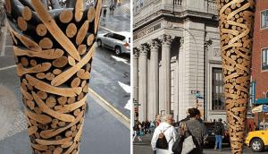 esculturas de troncos