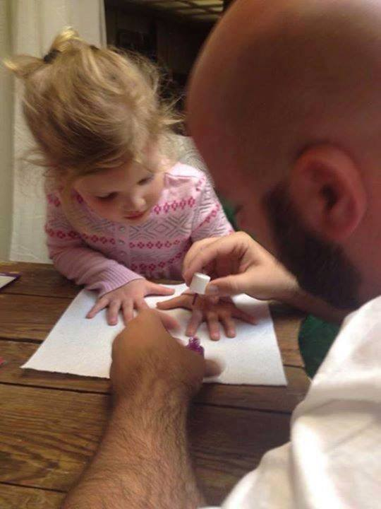 manicura con papá