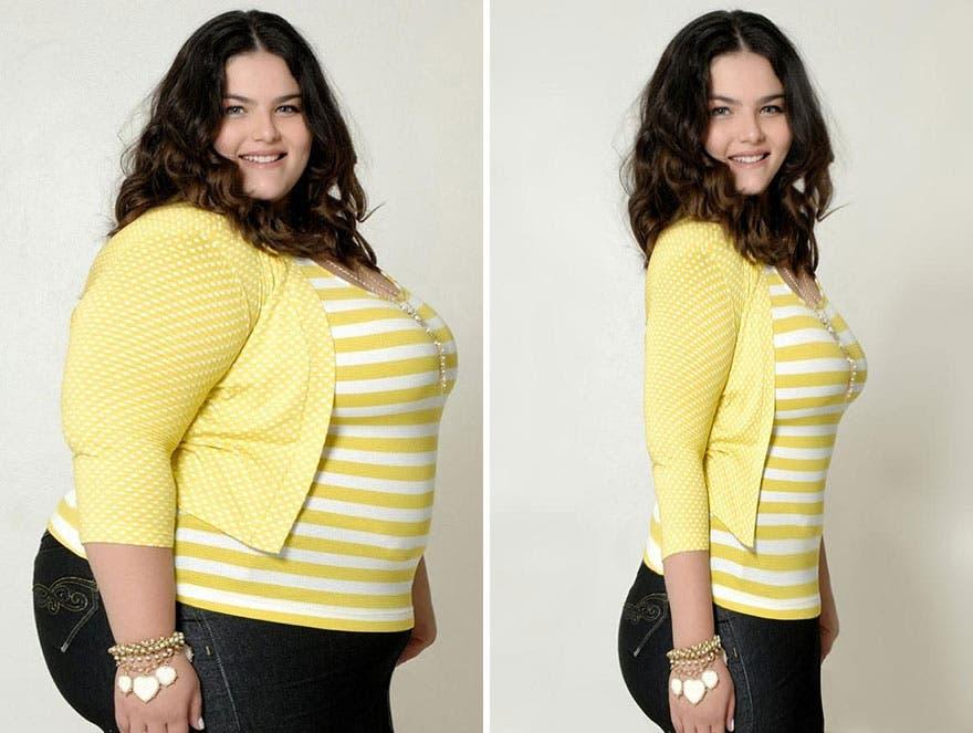 Una polémica campaña transformó modelos de talla grande con Photoshop promoviendo la delgadez