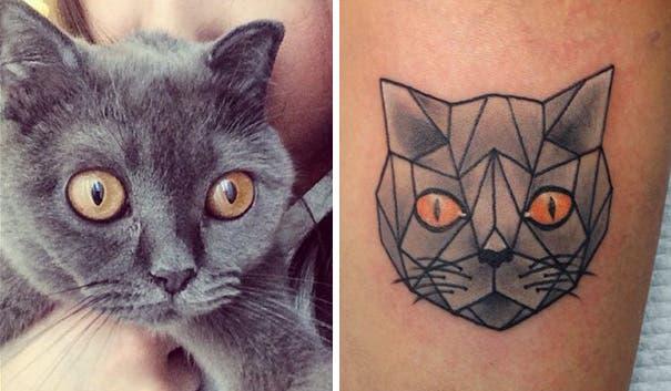 tatuaje minimalista de gatos19