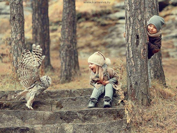 niños con animales 2