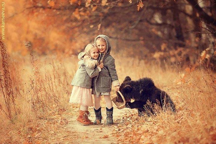 niños con animales 4
