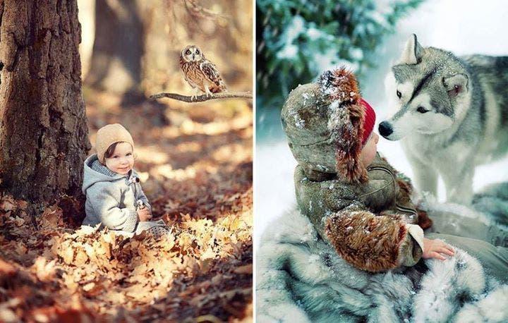 niños con animales 5