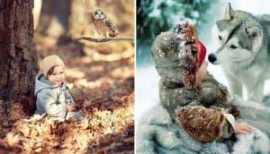 niños con animales 9