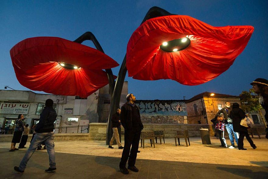 lamparas flores inflables 5