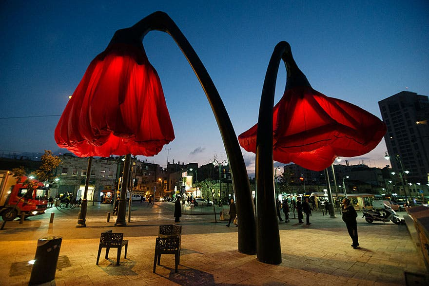 lamparas flores inflables 7