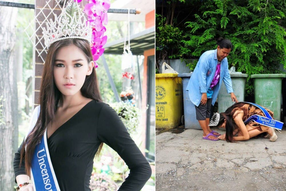 miss tailandia agradece madre 1