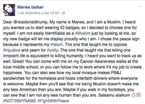 Una joven musulmana le escribe una emotiva carta a Donald Trump… ¡Te vas a sorprender!