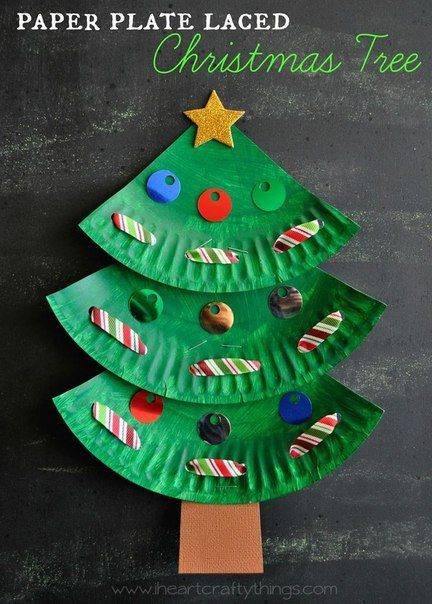 navidad platos carton 1