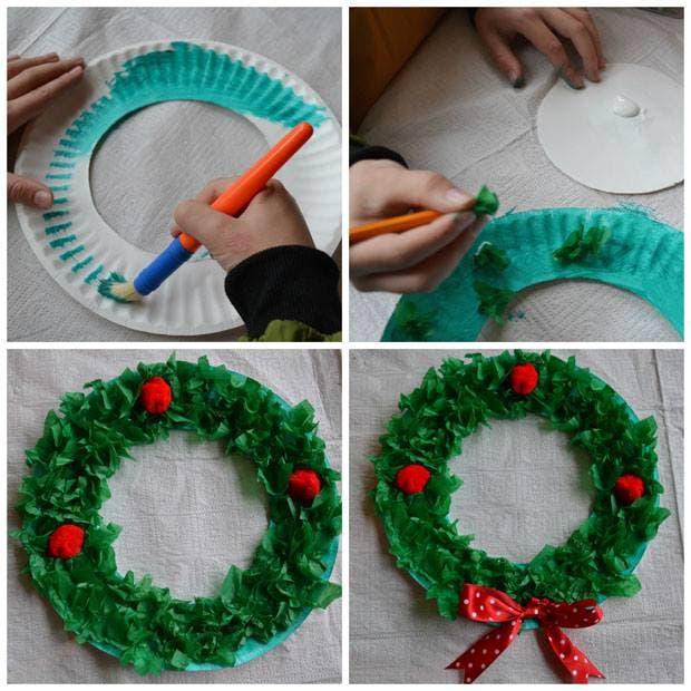navidad platos carton 12