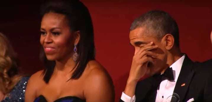 El Presidente Obama no pudo evitar las lágrimas al escuchar a Aretha Franklin