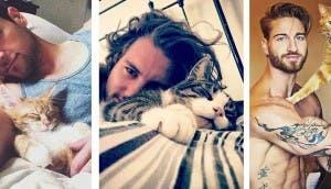 chicos lindos y gatos is