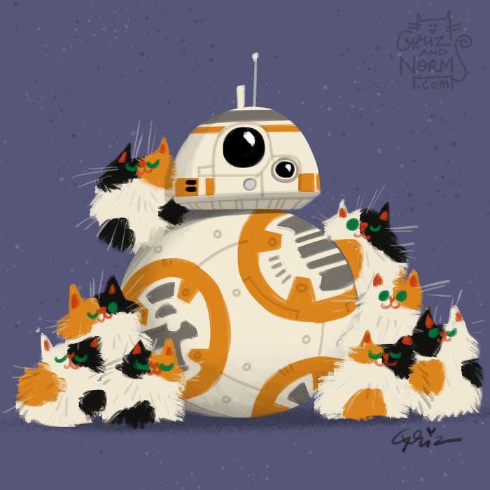 Estos ilustradores de Walt Disney han hecho dibujos de Star Wars ¡No te puedes perder!