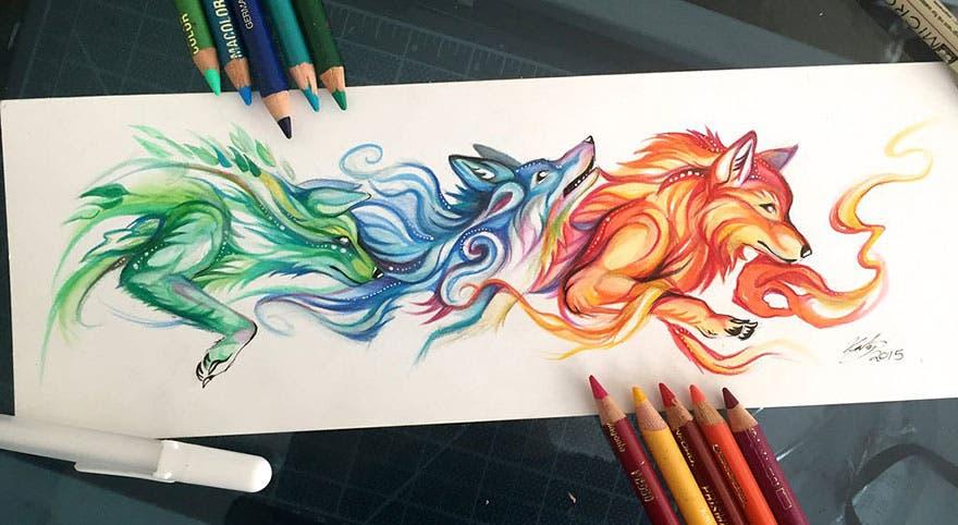 Cooltura Asombrosos Dibujos De Espíritus De Animales Salvajes
