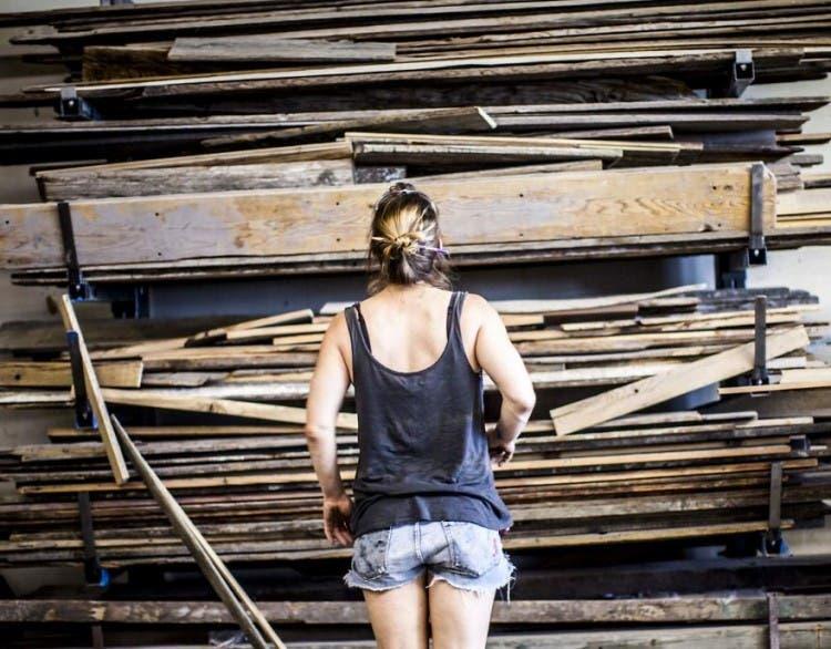 mesas madera reciclada 1