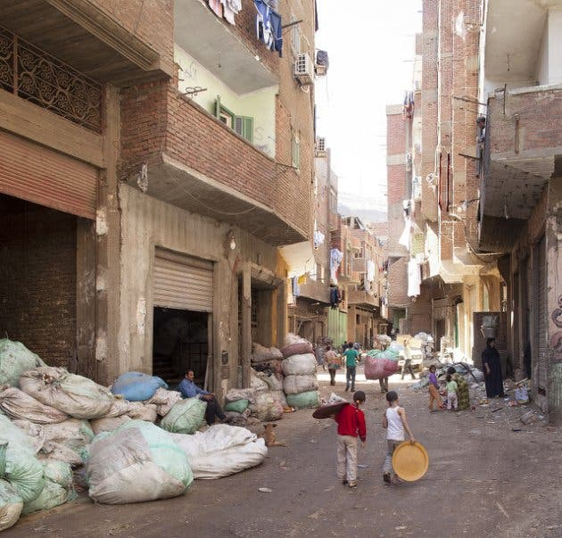 Streef of the Zabaleen (garbage collectors) area, Cairo, Egypt.