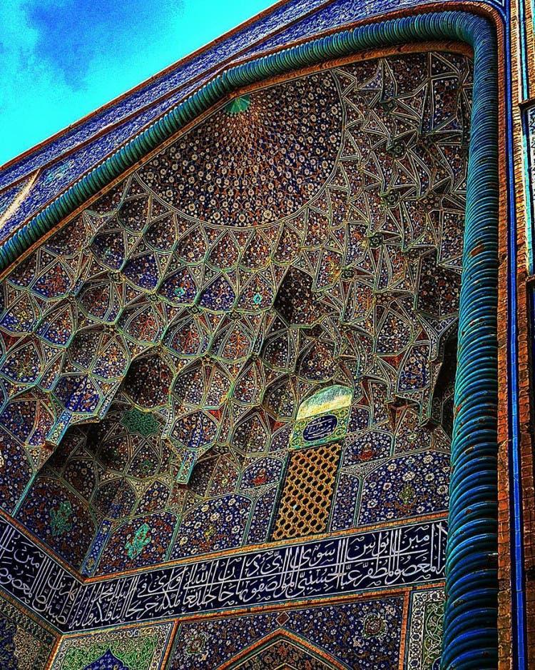 hermosa mezquita en iran 2