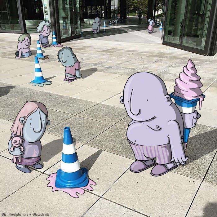 lucas-levitan-foto-bombing-creatividad-imaginación-helado