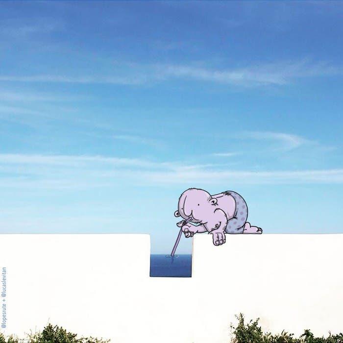 lucas-levitan-foto-bombing-creatividad-imaginación-traguito