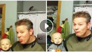 padre-enseña-cosas-divertidas-a-su-bebe3