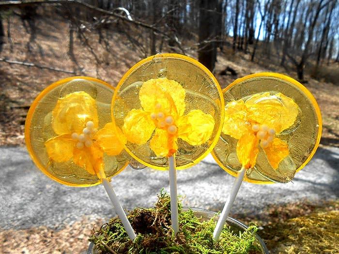 paletas de flores de caramelo 10