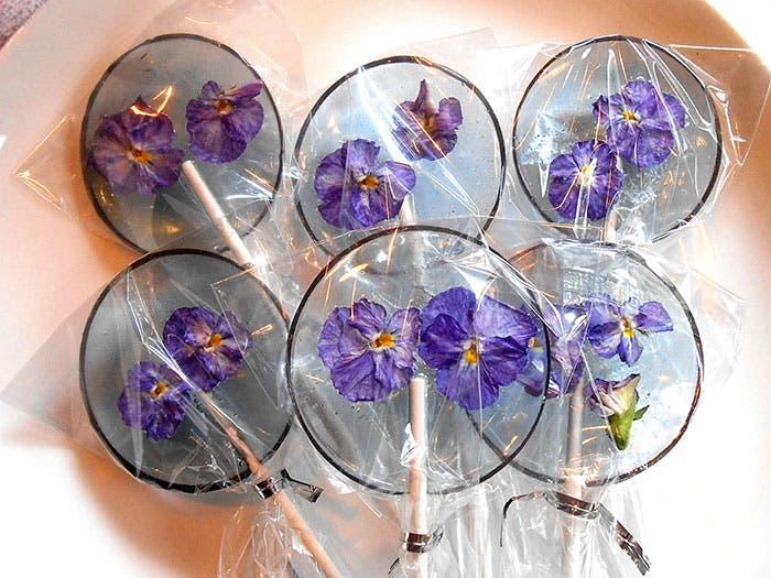 paletas de flores de caramelo 14