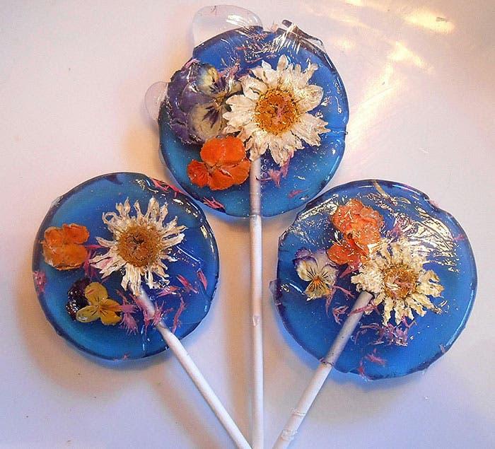 paletas de flores de caramelo 4