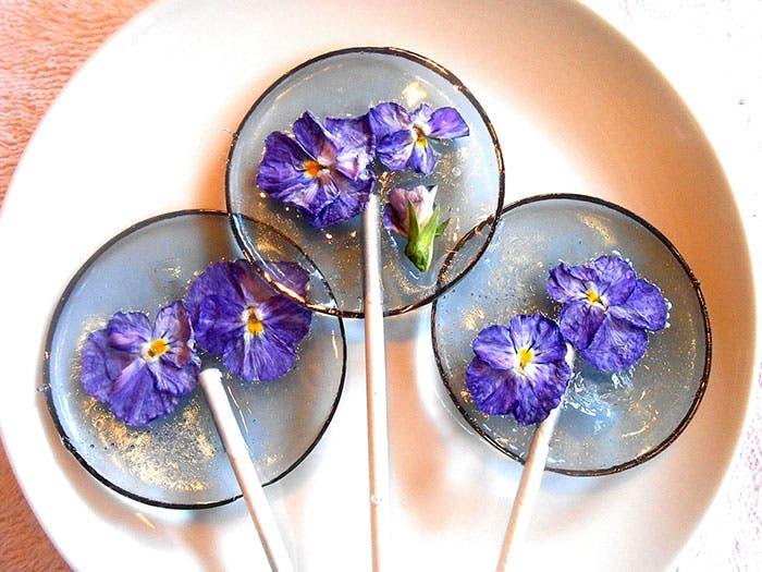 paletas de flores de caramelo 6