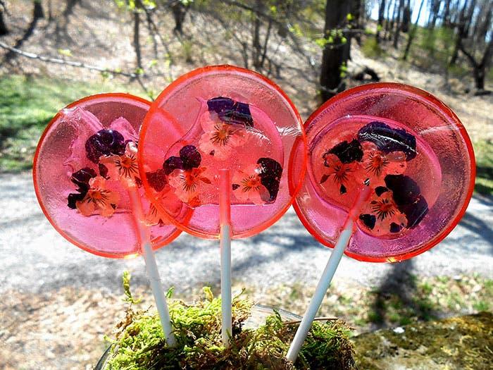paletas de flores de caramelo 8
