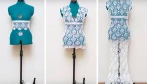 vestido novia crochet id