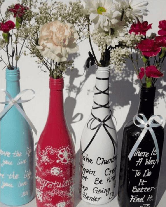 decorar y reciclar botellas 1
