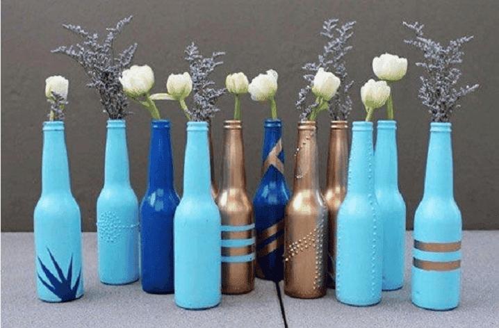 decorar y reciclar botellas 2