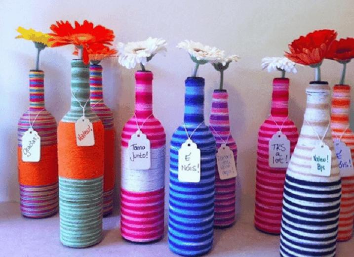 decorar y reciclar botellas 5