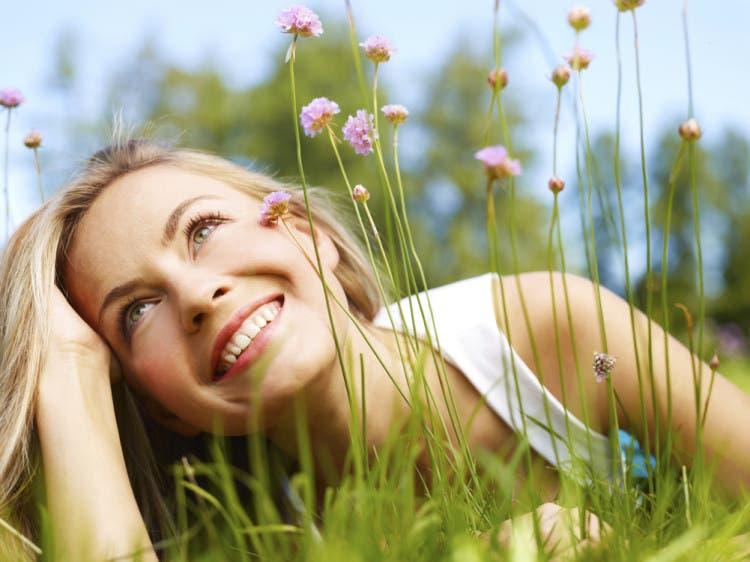 Girl in a grass (medium format image)
