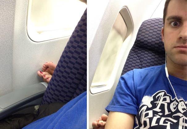 pasajeros molestos avion 4