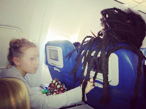 pasajeros molestos avion 7